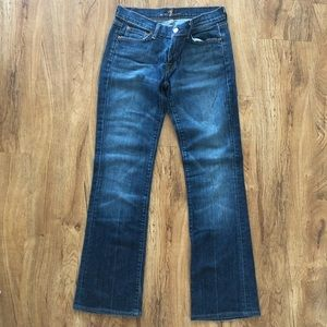 7 For All Mankind Dark Long Legs Bootcut Jeans 28